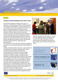 "THIRD ISSUE OF NEWSLETTER PUBLISHED AS A PART OF ""THE EUROPEAN AND OUR AFFAIRS"" PROJECT"