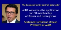 THE EUROPEAN FAMILY PORTRAIT GETS WIDER: ALDA WELCOMES THE APPLICATION FOR EU MEMBERSHIP OF BOSNIA AND HERZEGOVINA